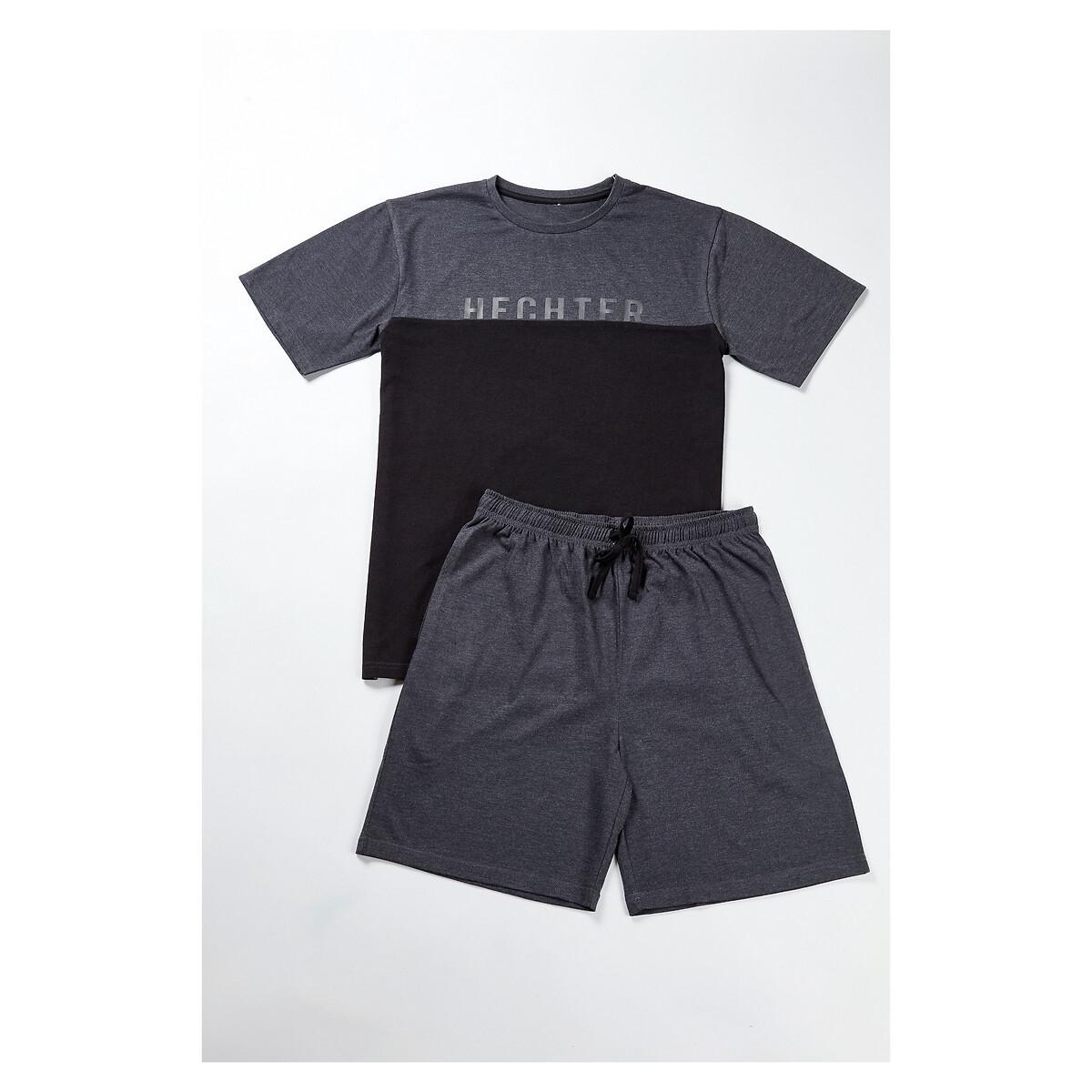 Фото - Пижама LaRedoute С шортами XXL серый пижама laredoute с шортами в полоску m синий