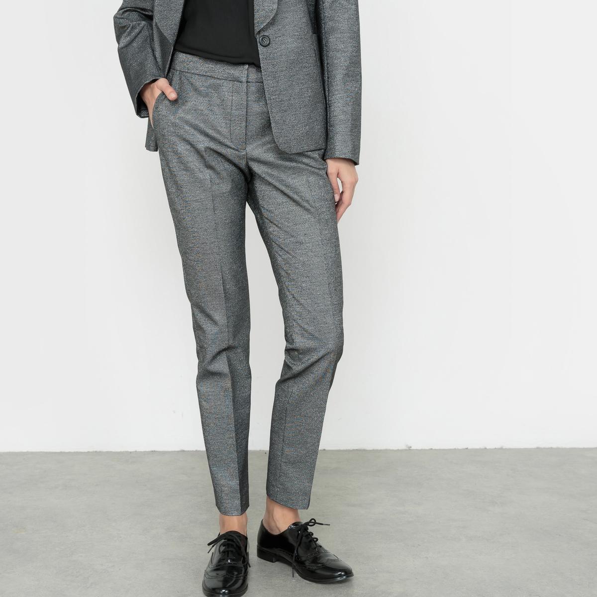 Жаккардовые брюки веретенообразной формы