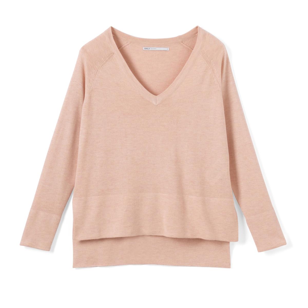 Пуловер объемный с длинными рукавами