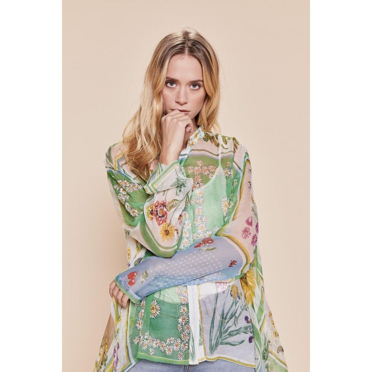 Blouse asymétrique imprimé foulard - Rafale