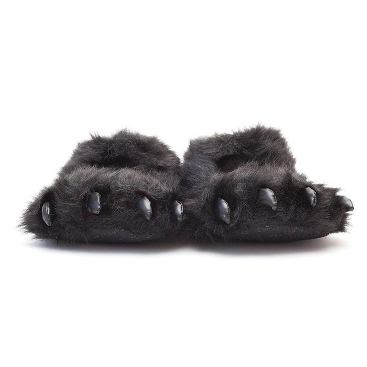 Chausson animaux griffe patte d'ours noire