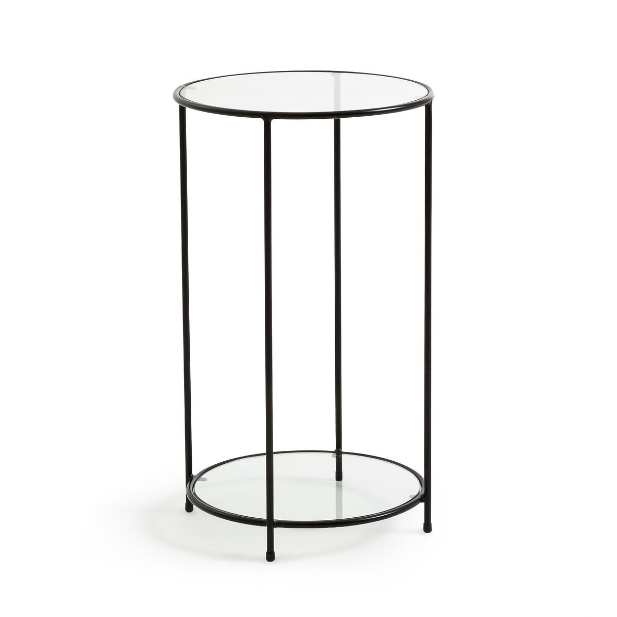 Столик LaRedoute Из закаленного стекла Sybil единый размер черный