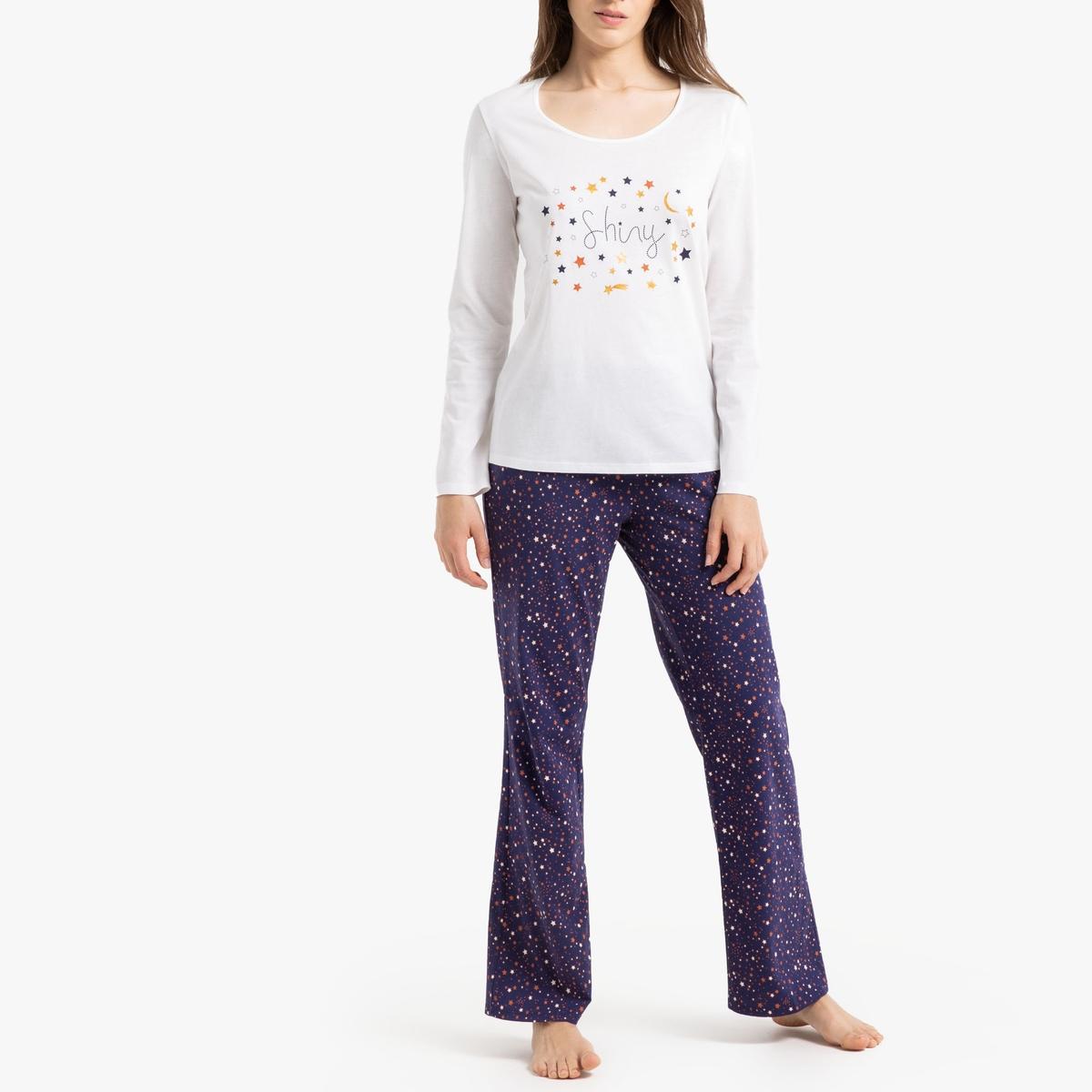Пижама La Redoute С длинными рукавами 34/36 (FR) - 40/42 (RUS) белый пижама la redoute с принтом короткая 34 36 fr 40 42 rus белый