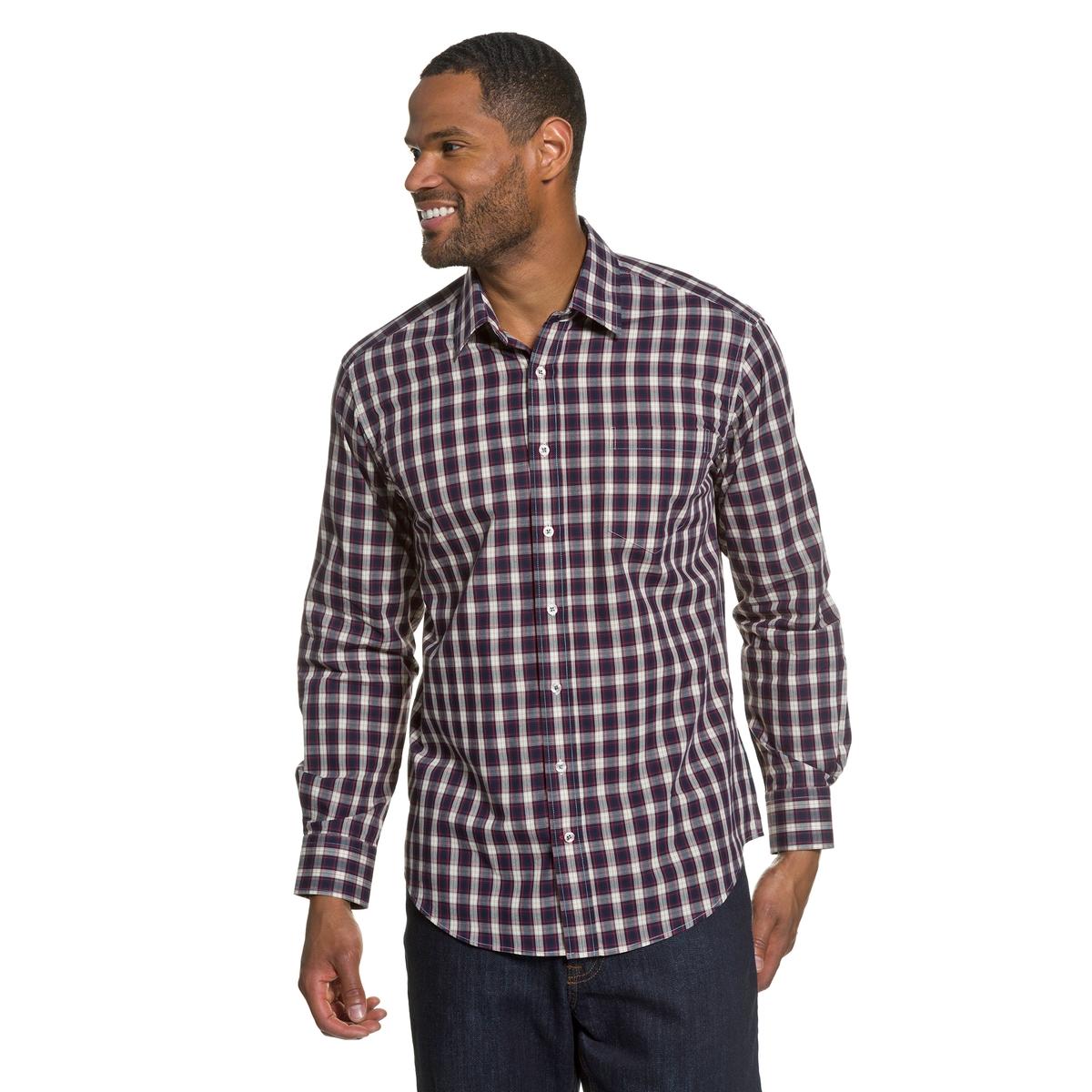 Рубашка в клеткуРубашка в клетку JP1880 . Слегка приталенный покрой. Воротник Kent. Нагрудный карман. 100% хлопок. Длина около 78 - 94 см.<br><br>Цвет: в клетку
