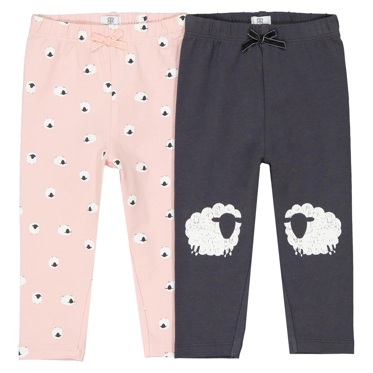 Confezione da 2 leggings pecorelle 1 mese - 3 anni