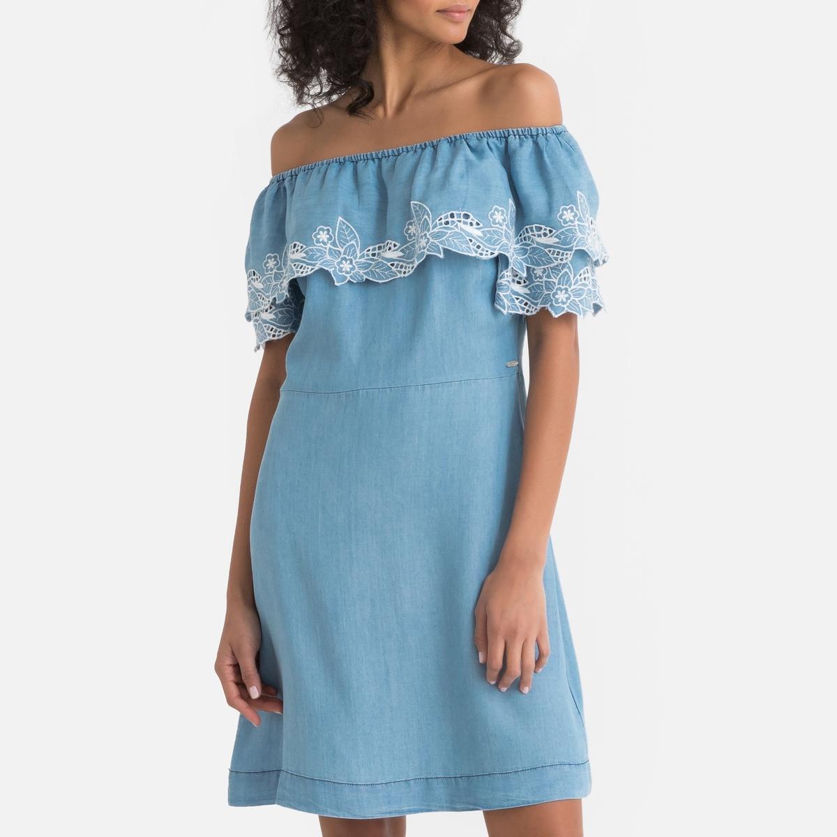 Платье La Redoute Прямое из лиоцелла Tati M синий платье la redoute прямое струящееся cienna 2 m синий