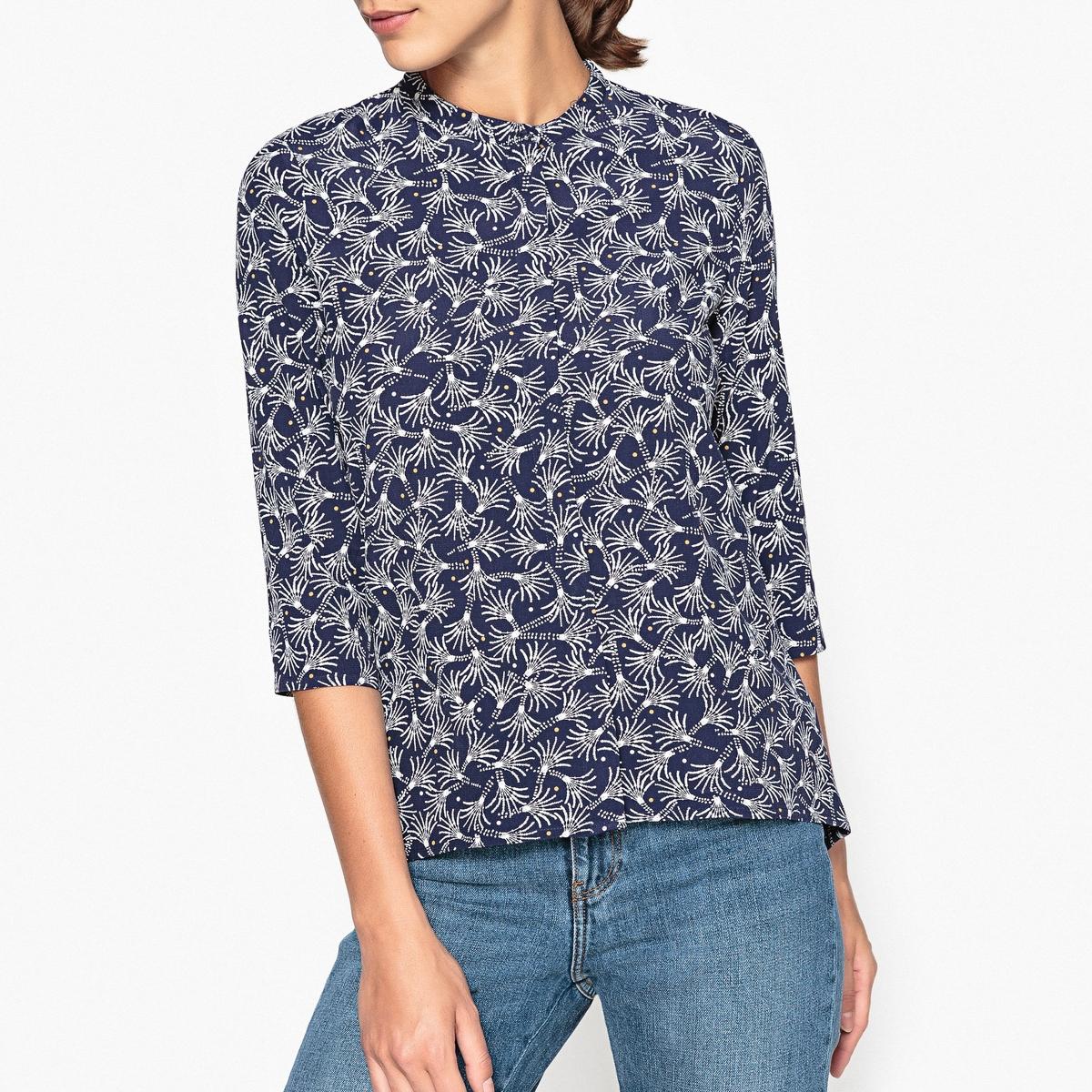 Рубашка с рисунком и рукавами 3/4 SIX sessun юбка длиной 3 4