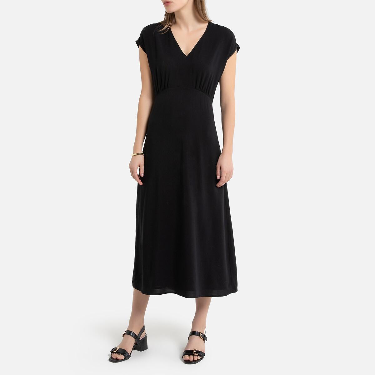 Платье La Redoute Длинное без рукавов 36 (FR) - 42 (RUS) черный платье la redoute радужное estelle 36 fr 42 rus черный