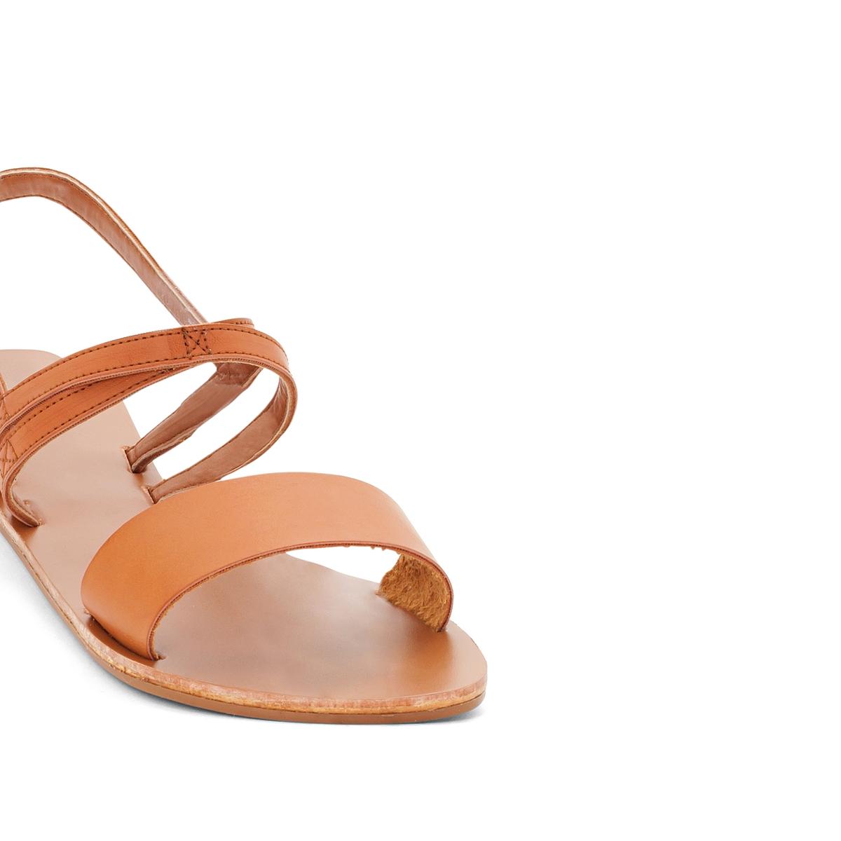 Сандалии CatalinaВерх : кожа.   Стелька : кожа.   Подошва : Каучук   Форма каблука : плоский каблук.   Мысок : открытый мысок   Застежка : без застежки<br><br>Цвет: темно-бежевый