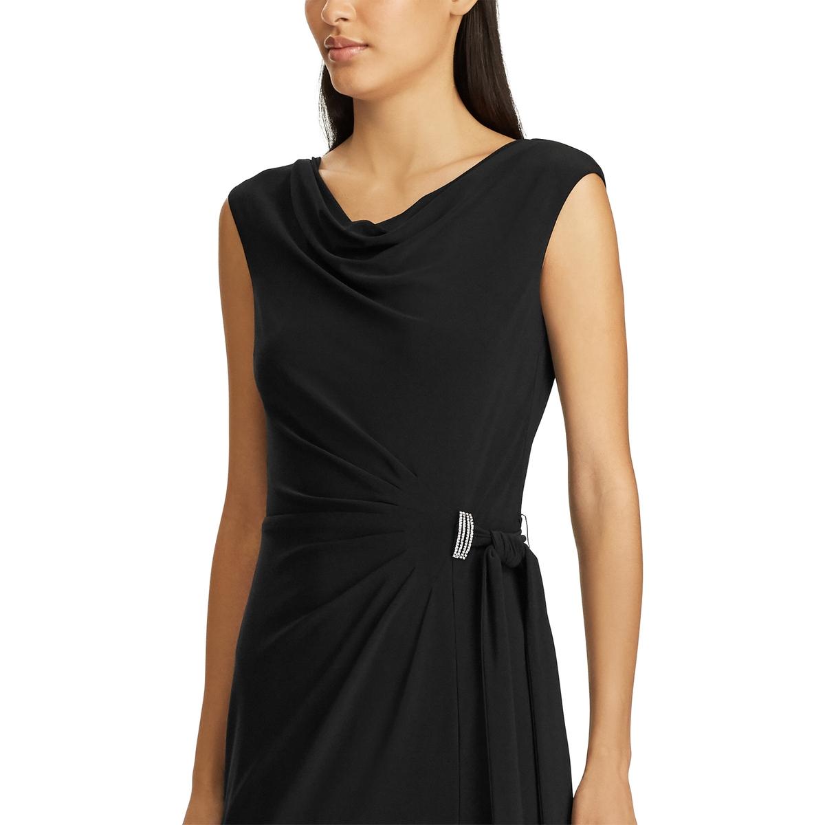 Платье La Redoute Удлиненное с драпировкой без рукавов 40 (FR) - 46 (RUS) черный
