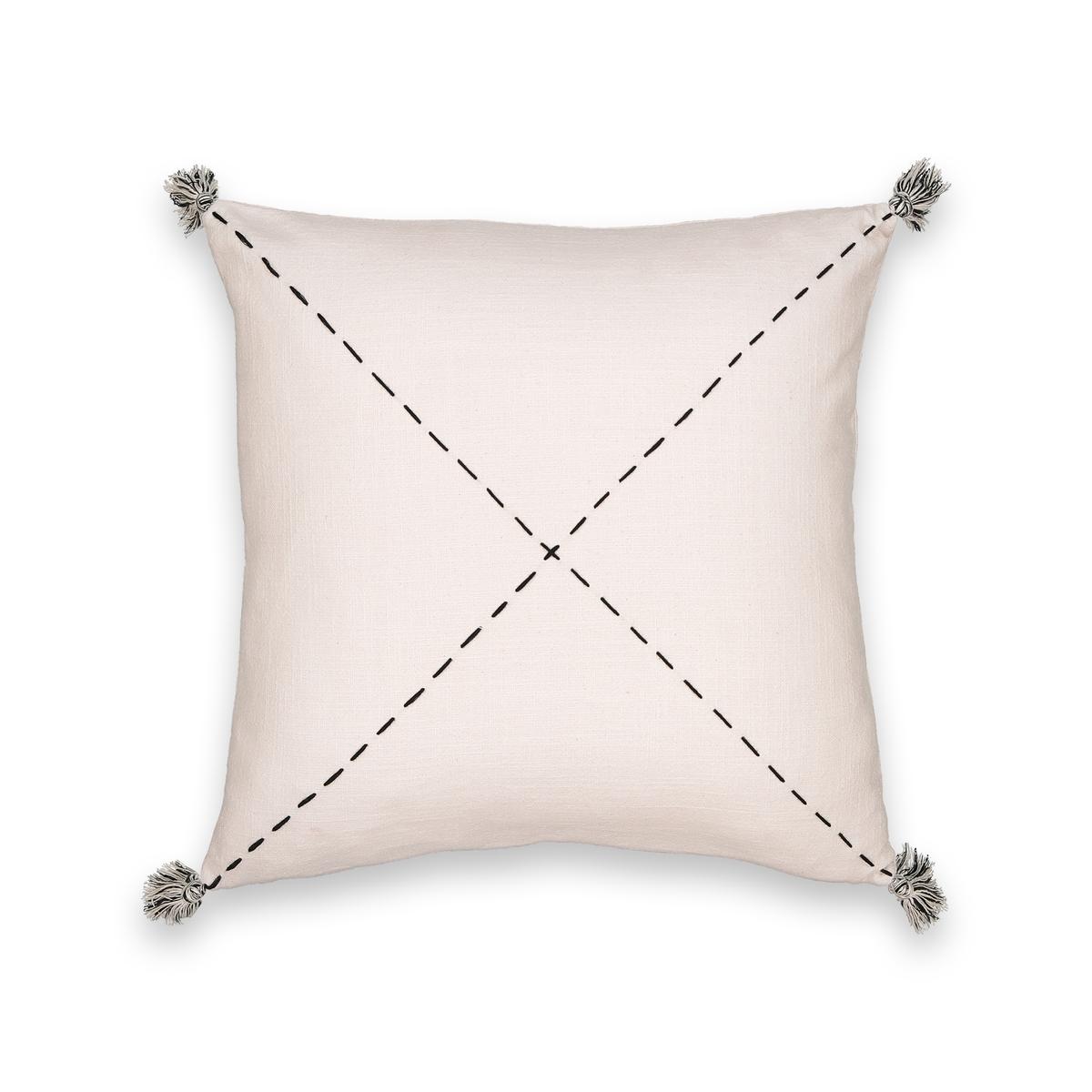 Чехол LaRedoute На подушку с ручной вышивкой Girandole 50 x 50 см бежевый