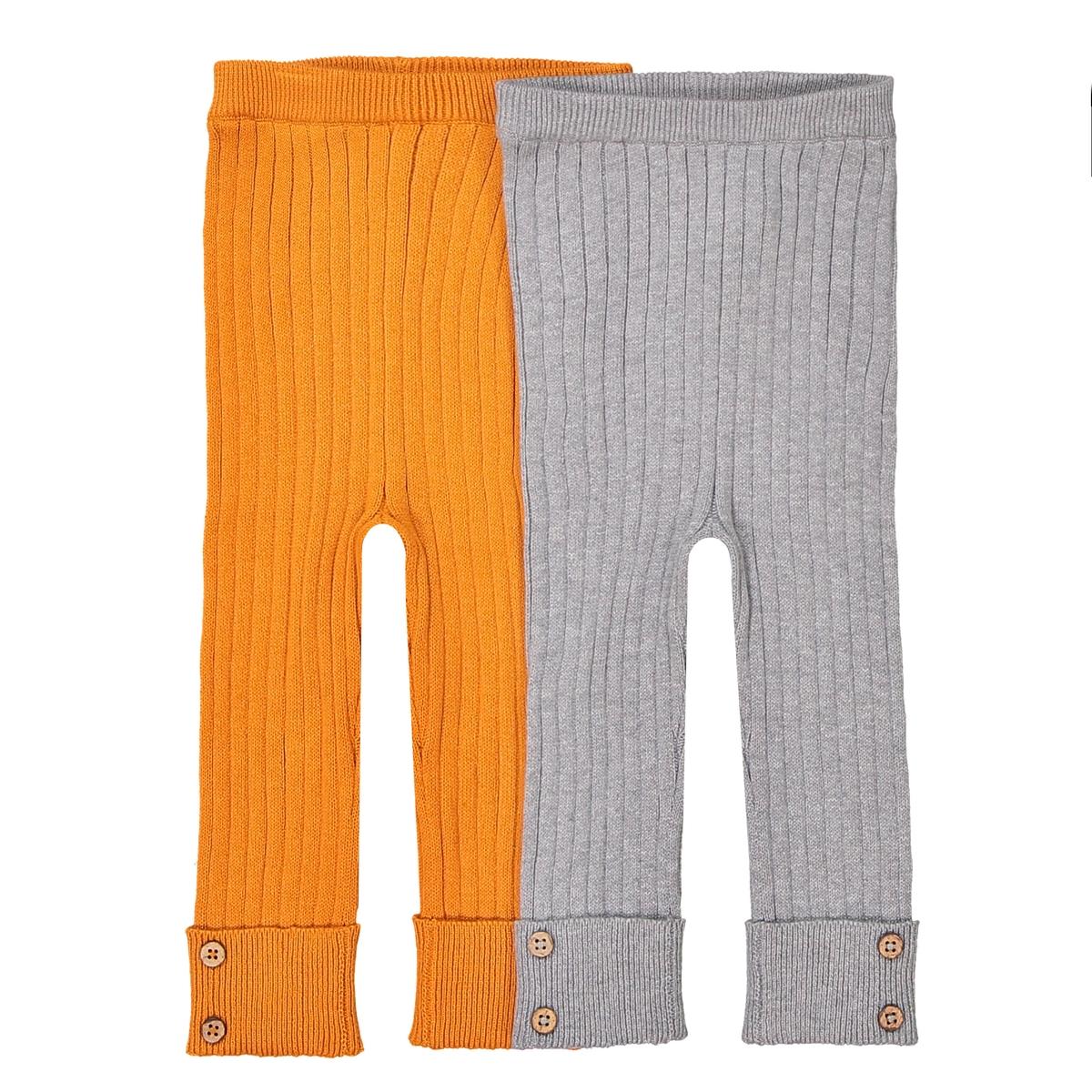 Confezione da 2 leggings in maglia a coste 1 mese - 3 anni