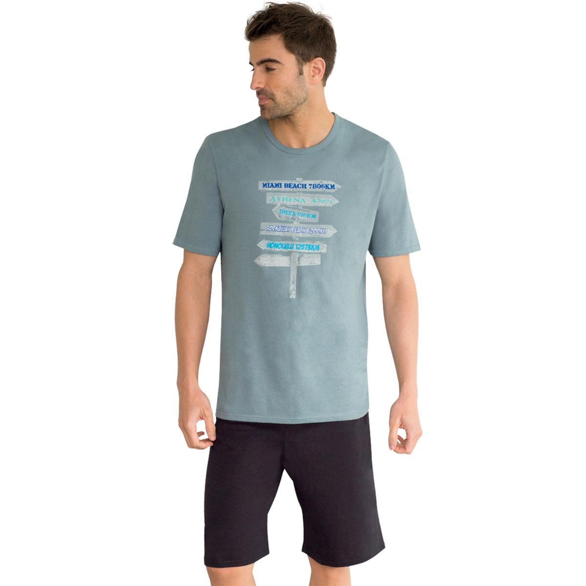 Пижама с шортами, короткие рукава, рисунок. solo1 с