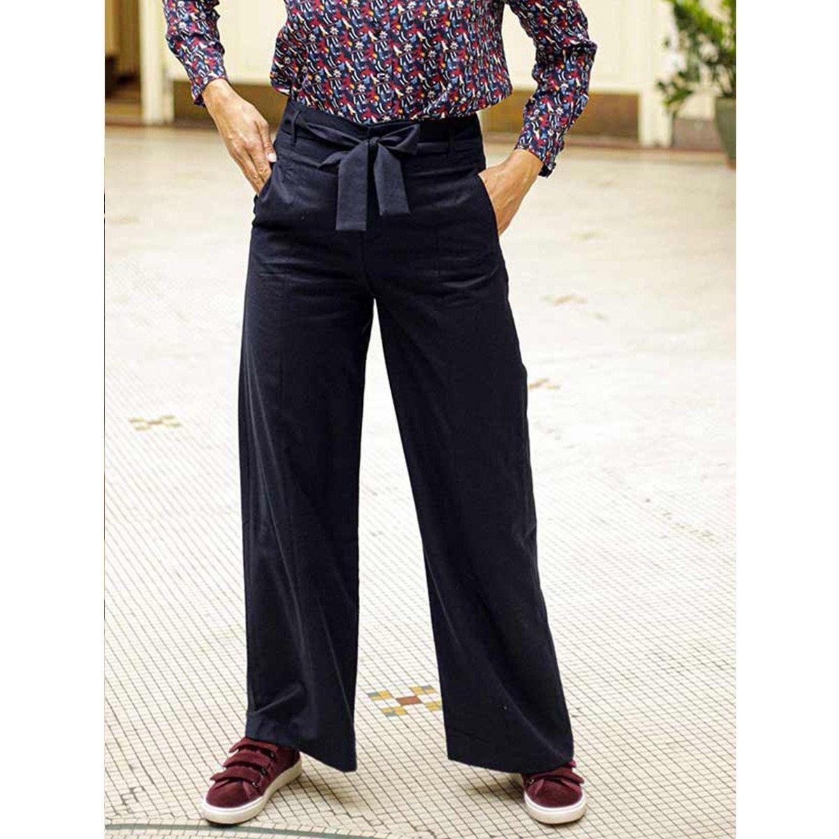 Pantalon 100% laine vierge ample