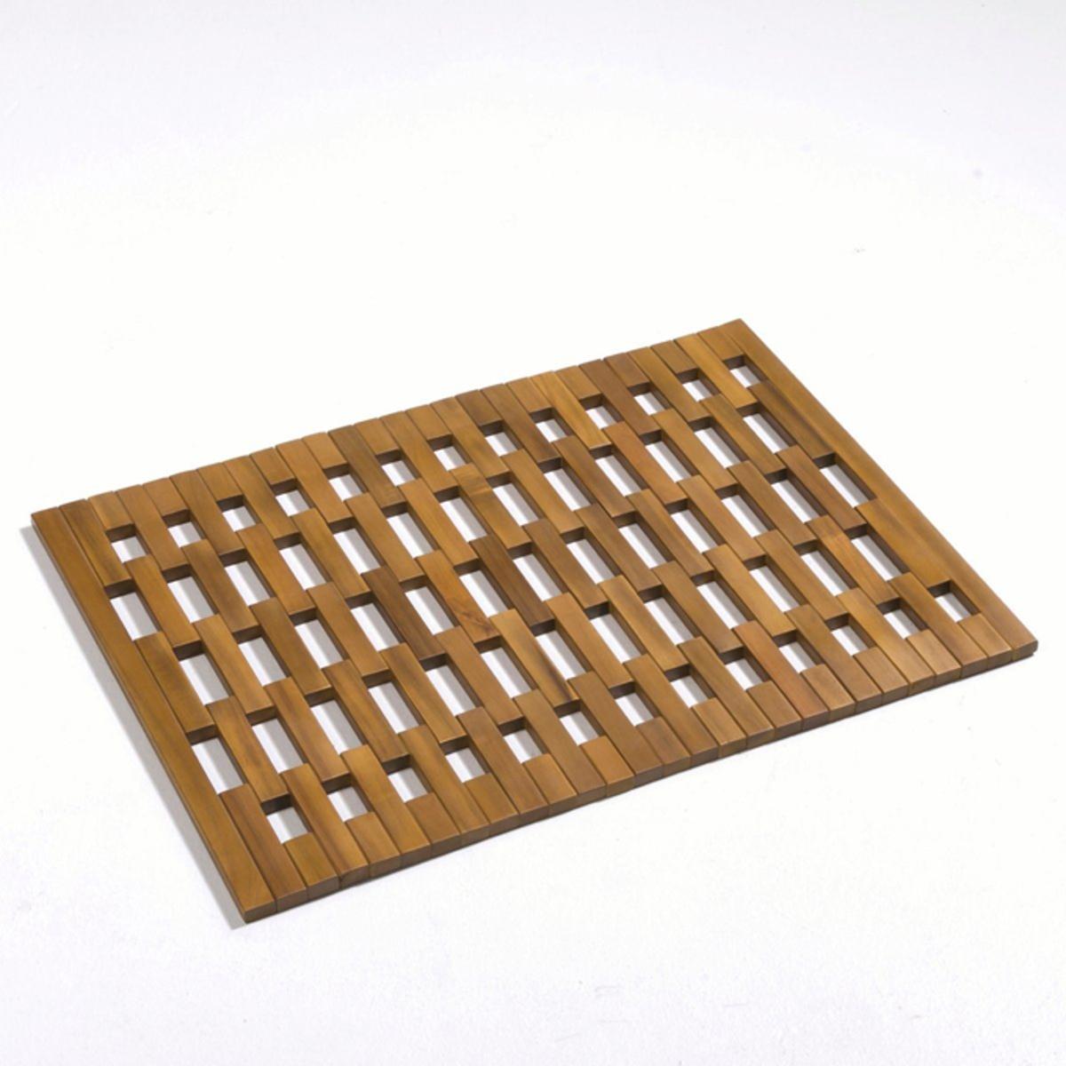 Решетка на пол ванной комнаты, из акацииХарактеристики решетки :- Массив акации, масляное покрытие под тик.- Общие. размеры : 70 x 50 см, толщина. 1,5 см.- Вес : 2 кг.<br><br>Цвет: акация<br>Размер: единый размер