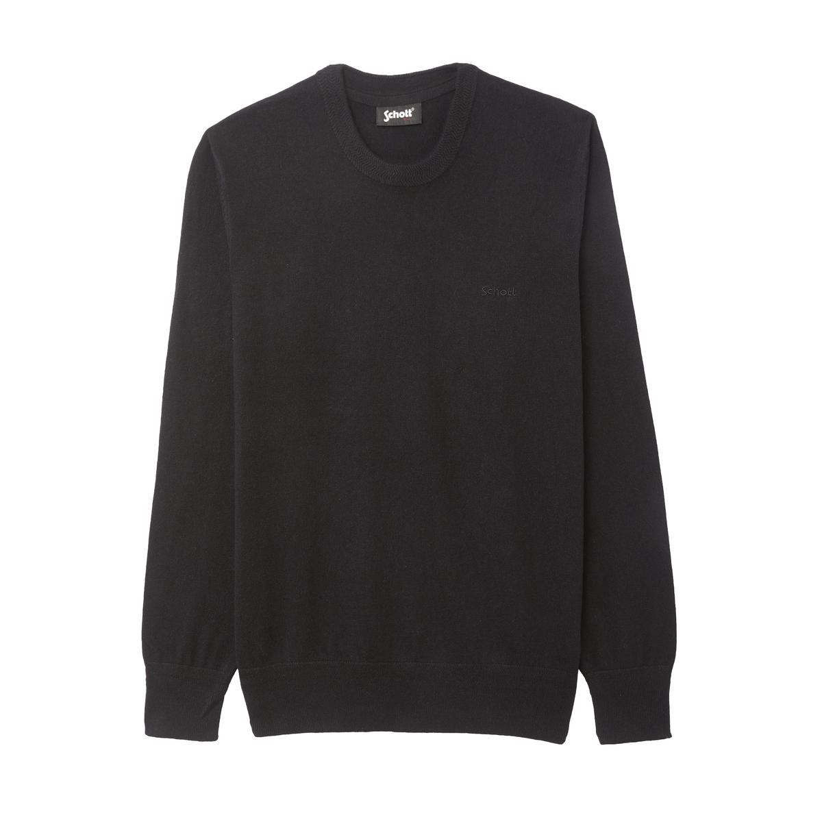 Пуловер La Redoute Из хлопка и шерсти Pl Beal S черный