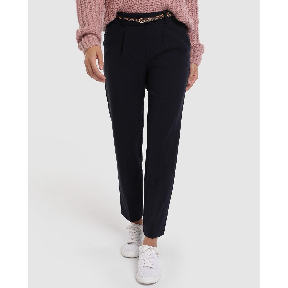 Pantalon fluide  basic avec ceinture