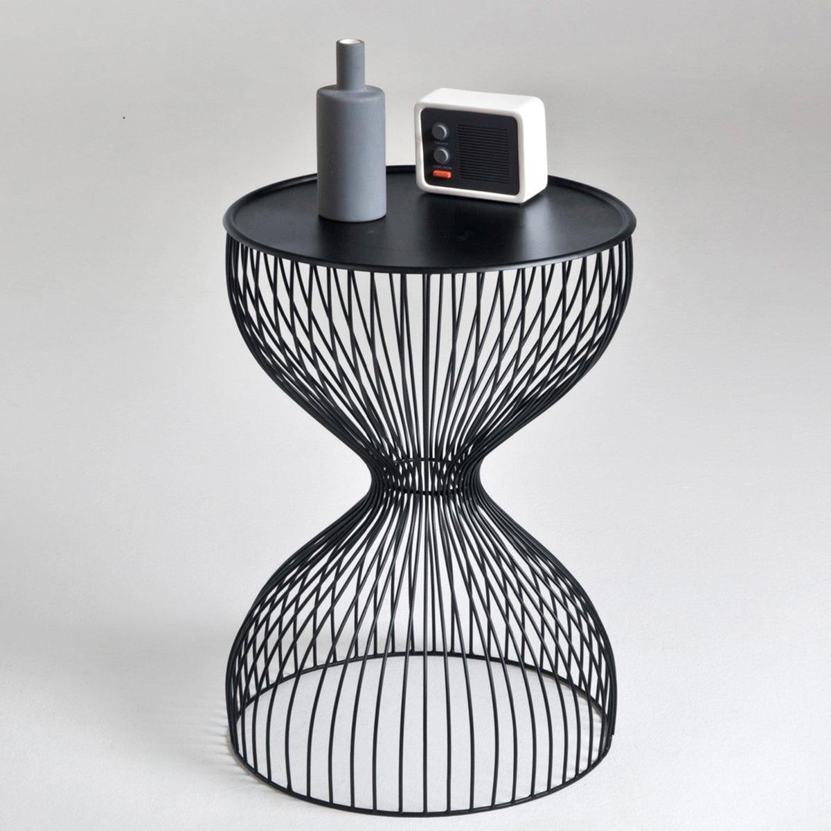 Прикроватный La Redoute Столик из проволоки Janik единый размер черный тумба la redoute металлическая полки janik единый размер белый
