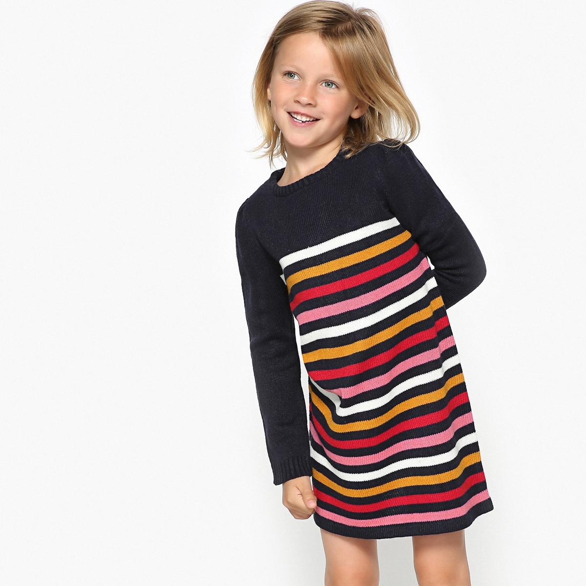 Платье-пуловер La Redoute В полоску 10 лет - 138 см другие блузка la redoute в полоску с длинными рукавами 12 лет 150 см другие