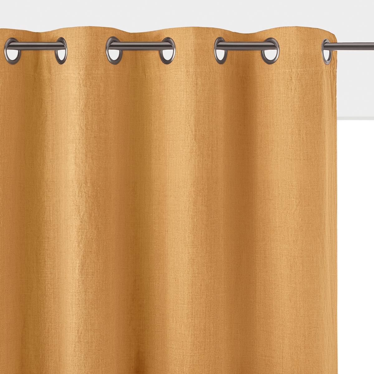 Штора затемняющая из стираного льна с люверсами, ONEGAКачество BEST, затемняющая штора из стираного льна Onega. 100 % стираный лен с легким жатым эффектом и со складками. Затемняющая подкладка того же цвета обеспечивает отличную защиту от света.Характеристики затемняющей шторы из стираного льна Onega:Качество BEST, требование качества.100 % лен.Затемняющая подкладка того же цвета100 % полиэстер обеспечивает отличную защиту от света.Отделка люверсами цвета темно-серый металлик.Всю коллекцию Onega вы можете найти на сайте laredoute. Размеры затемняющей шторы из стираного льна Onega :Высота танкетки. 180 x Ширина. 135 смВысота танкетки. 220 x Ширина. 135 смВысота танкетки. 260 x Ширина. 135 смВысота танкетки. 350 x Ширина. 135 смЗнак Oeko-Tex® гарантирует, что товары прошли проверку и были изготовлены без применения вредных для здоровья человека веществ.<br><br>Цвет: антрацит,белый,бледный сине-зеленый,зеленый,прусский синий,розовая пудра,серо-бежевый,терракота<br>Размер: 180 x 135  см.260 x 135 см.180 x 135  см.260 x 135 см.260 x 135 см