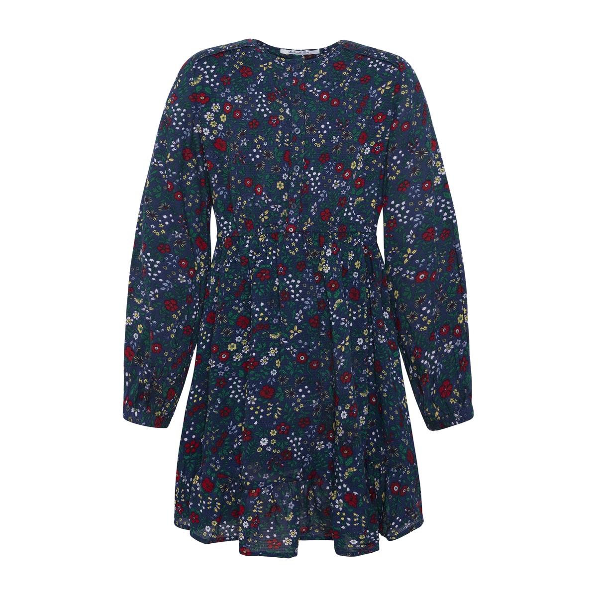 Платье La Redoute С цветочным рисунком 8 лет - 126 см синий цены