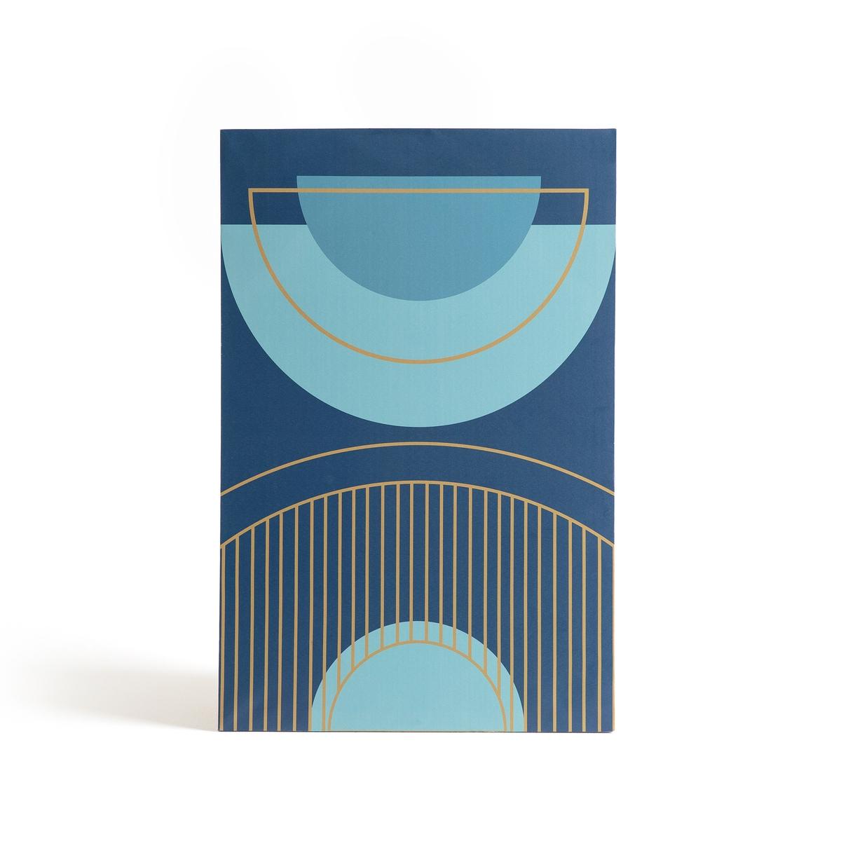 Холст LIANAХолст Liana. Геометрические мотивы в стилистике Арт Деко для интерьера в винтажном стиле.Описание холста Liana:1 крючок для крепления Ткань канва на рамке из сосны Откройте для себя всю коллекцию декора на сайте laredoute.ruРазмеры 1 картины :L46 x H70 см<br><br>Цвет: сине-зеленый<br>Размер: единый размер