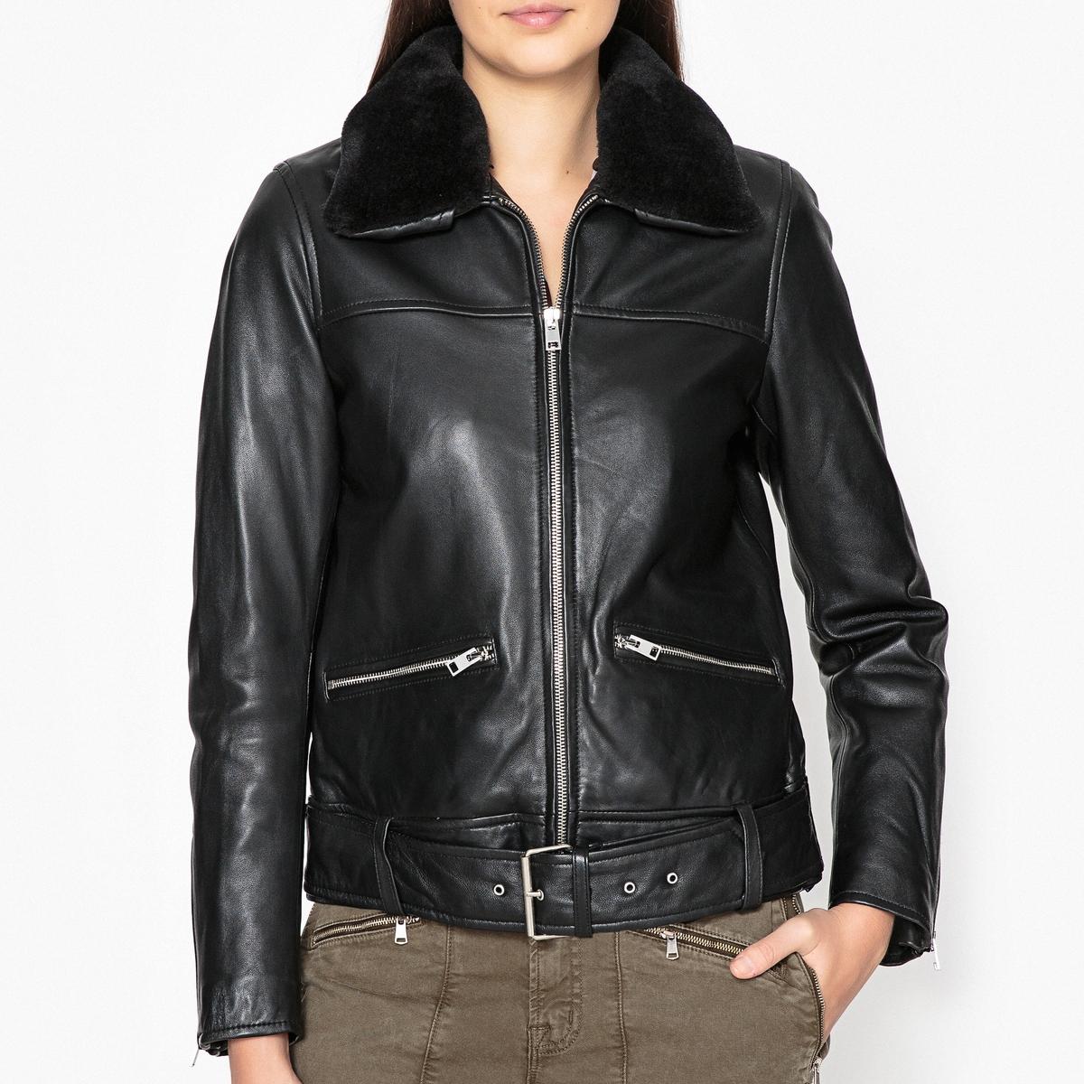 Блузон кожаный на молнии KART блузон кожаный