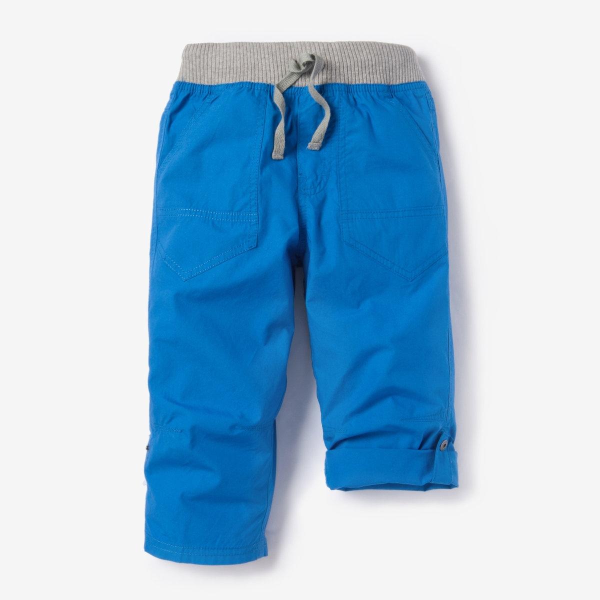 Брюки-каприДетали Покрой брюк : капри   •  Стандартная высота пояса •  Регулируемый пояс Состав и уход •  100% хлопок •  Стирать при 40° •  Сухая чистка и отбеливание запрещены • Барабанная сушка на умеренном режиме • Средняя температура глажки<br><br>Цвет: ярко-синий