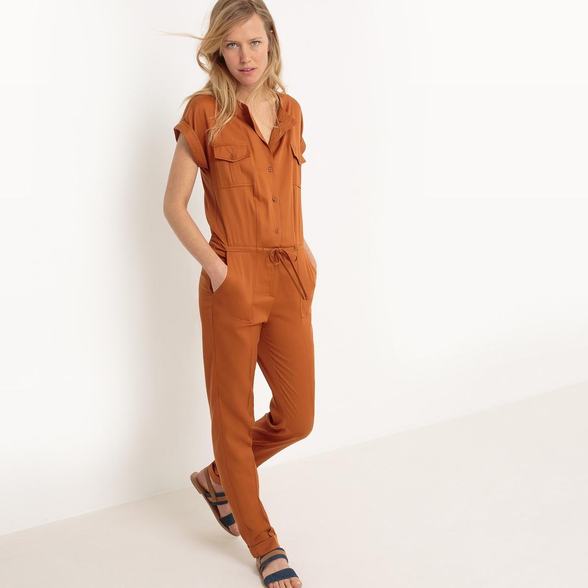 Комбинезон с брюками в стиле милитари