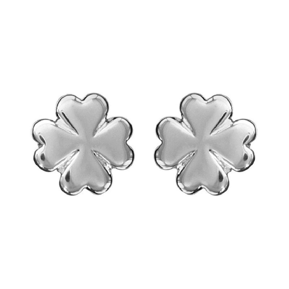 Boucles d'oreilles Trèfle 4 Feuilles Argent 925