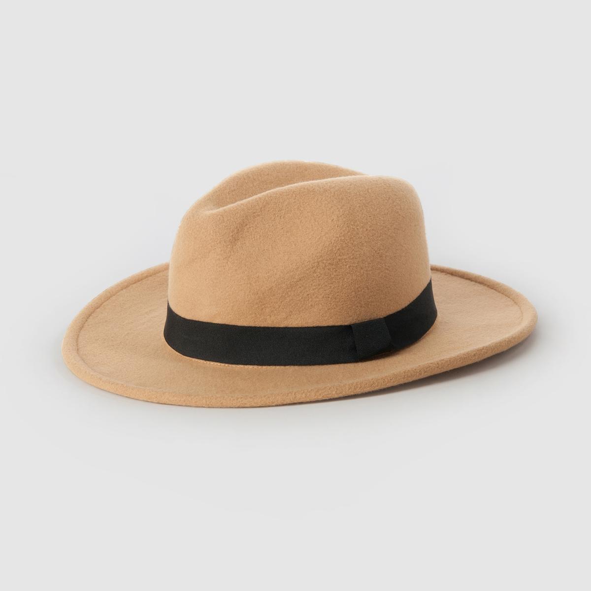 ШляпаШерстяная шляпа - R EssentielsСостав : 100% полиэстер<br><br>Цвет: серый,темно-бежевый<br>Размер: единый размер
