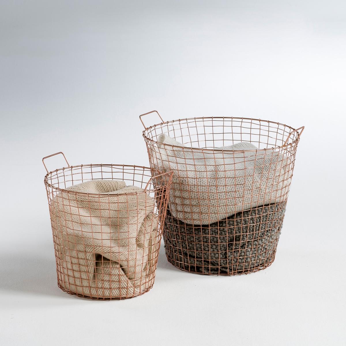 Комплект из 2 корзин из металла с медным покрытием, ELORI бра настенное из металла elori