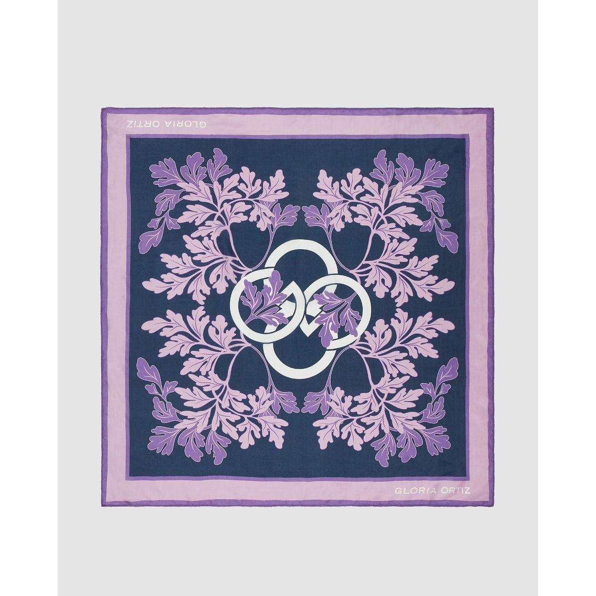 Foulard en soie  avec imprimé de la marque