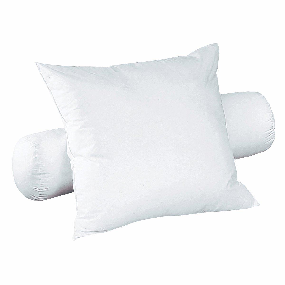 Валик из синтетикиМягкий валик наполнен волокнами полиэстера Quallofil Air DACRON®, ультратонкими и легкими (полые пышные волокна).Чехол из 100% хлопка. Стирка при 40°.<br><br>Цвет: белый