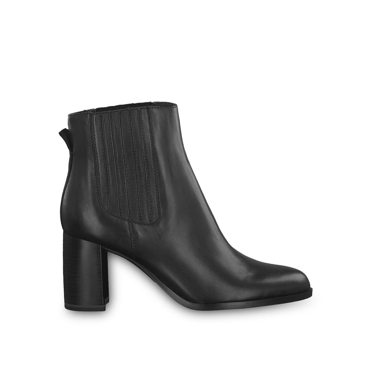 Ботильоны La Redoute Кожаные на каблуке Ylenia 36 черный ботильоны la redoute кожаные на каблуке claudette calf 37 черный