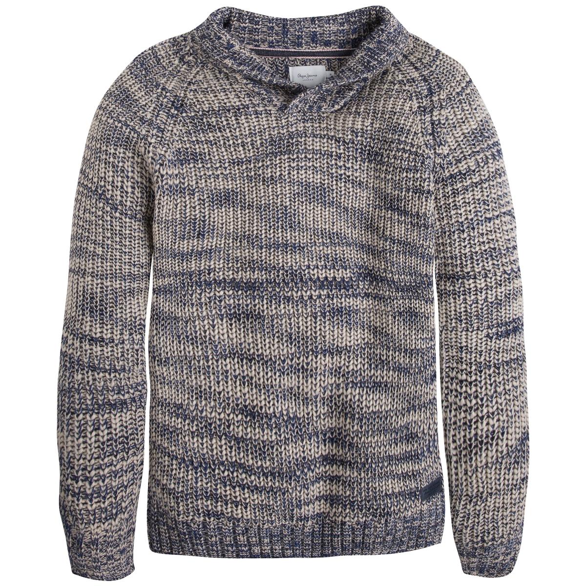 Пуловер с шалевым воротником - PEPE JEANS