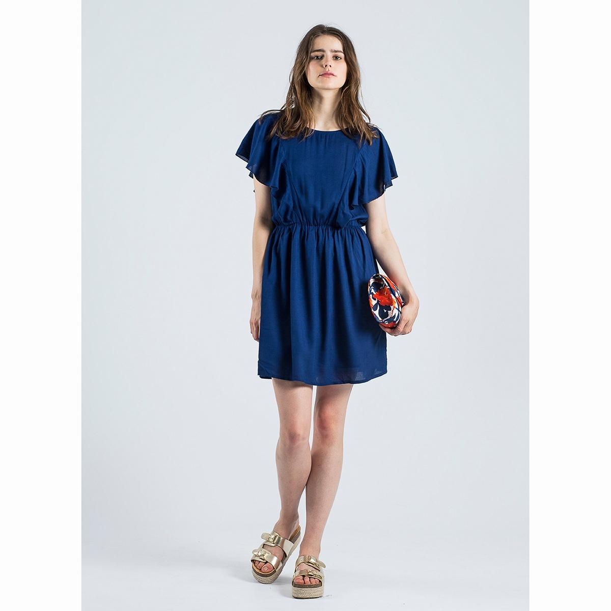 Платье Vestido AzulСостав и описаниеМатериал : 100% вискозаМарка : Compania FantasticaМодель : Vestido AzulУходСледуйте рекомендациям по уходу, указанным на этикетке изделия<br><br>Цвет: темно-синий<br>Размер: S.XL