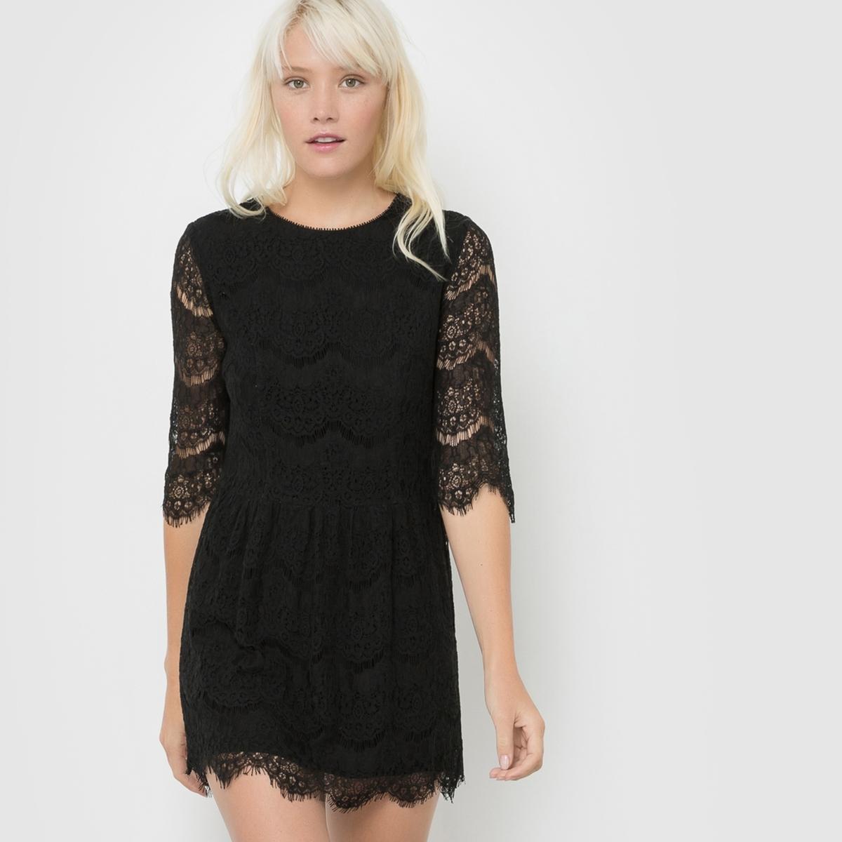 Платье из кружева с рукавами 3/4 CERISE платье с рукавами 3 4 roncier