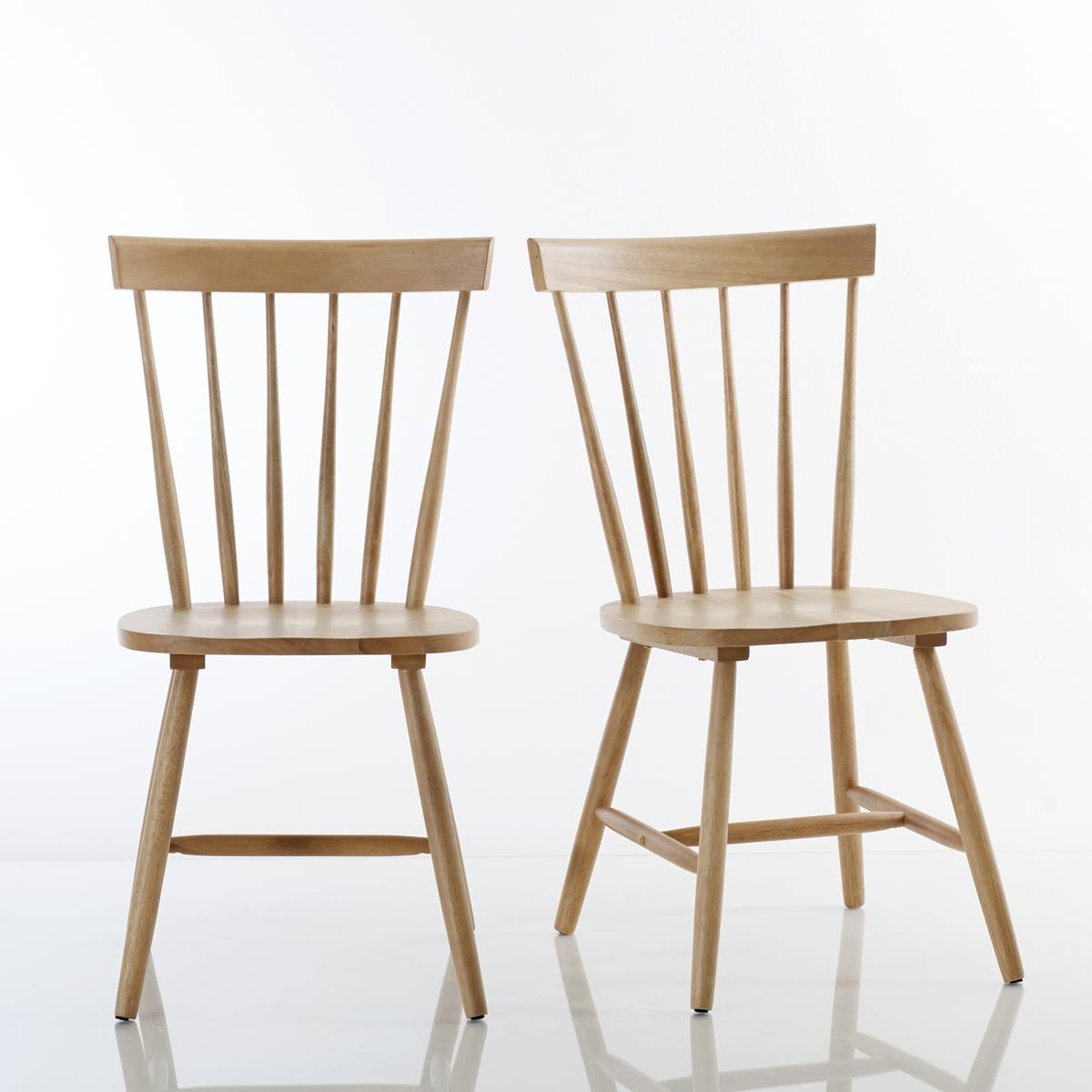 Комплект из стульев с La Redoute Перекладинами из массива гевеи JIMI единый размер бежевый