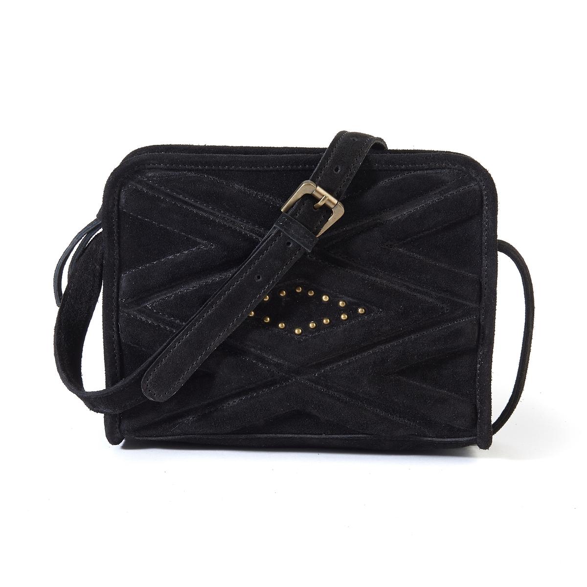 Сумка кожанаяОписание:Маленькая сумка с красивым графическим рисунком : идеально сочетается с джинсами или элегантным нарядом. Плечевой ремень в виде цепочки.Состав и описание : •  Внешний материал :  100% невыделанная яловичная кожа  •  Подкладка : 100% хлопок •  Размер :  Ш22 x В17 x Г7 см •  Застежка : молния  •  Внутренний карман : 1 карман для мобильного телефона  •  Ремешок : регулируемый, несъемный  •  Носить : на плече или в руке<br><br>Цвет: темно-бежевый,черный<br>Размер: единый размер.единый размер