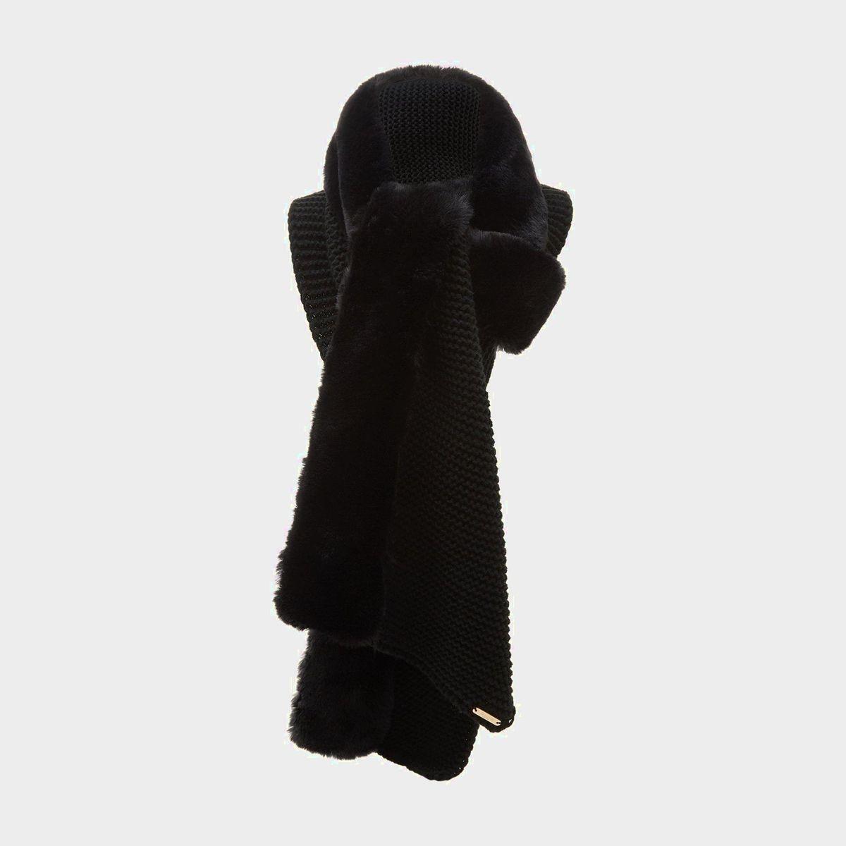 Écharpe en maille avec bordure en fausse fourrure - LUPTINA