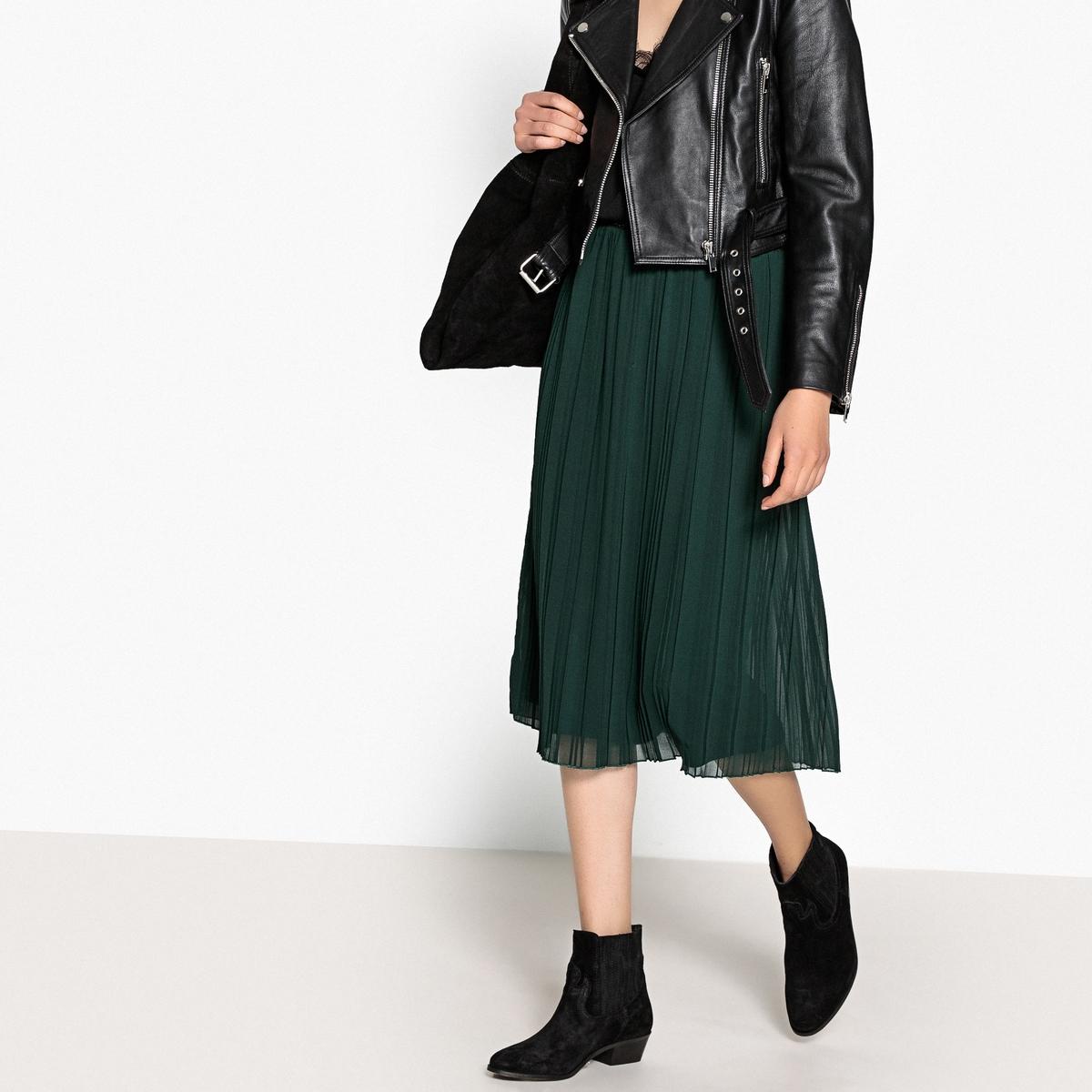 Falda plisada con cintura elástica sporty