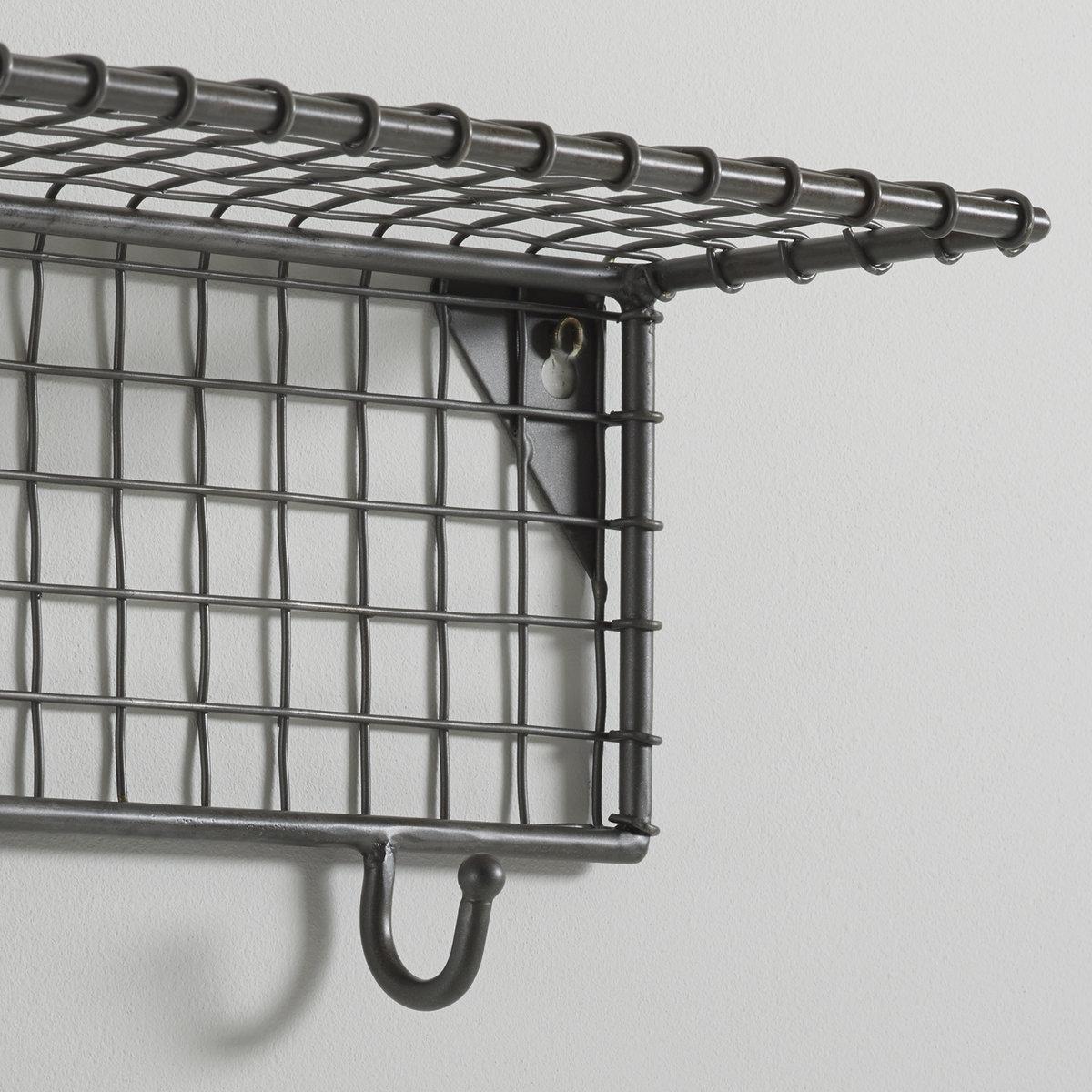 Полка металлическая  Ar?gloПолка из проволоки Ar?glo, красивая и практичная, на  6 крючках, займет свое место в прихожей, спальне или ванной.. Описание :1 полка из металлической проволоки.6 металлических крючка.Характеристики:из ячеистого металла.Найдите коллекцию для хранения вещей на нашем сайте laredoute.ru.Размеры:83 x 16,5 x 13 см.Размеры и вес коробки :1 упаковка89 x 19 x 22,5 см, 2,8 кг<br><br>Цвет: металл