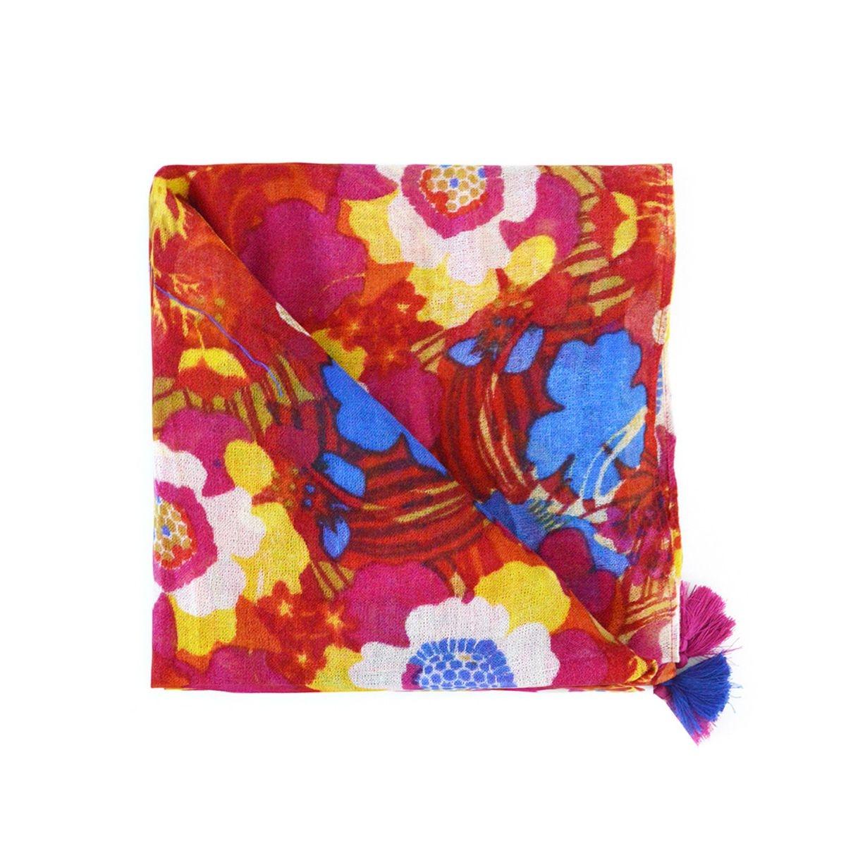 Foulard Abbacion en laine à imprimé floral