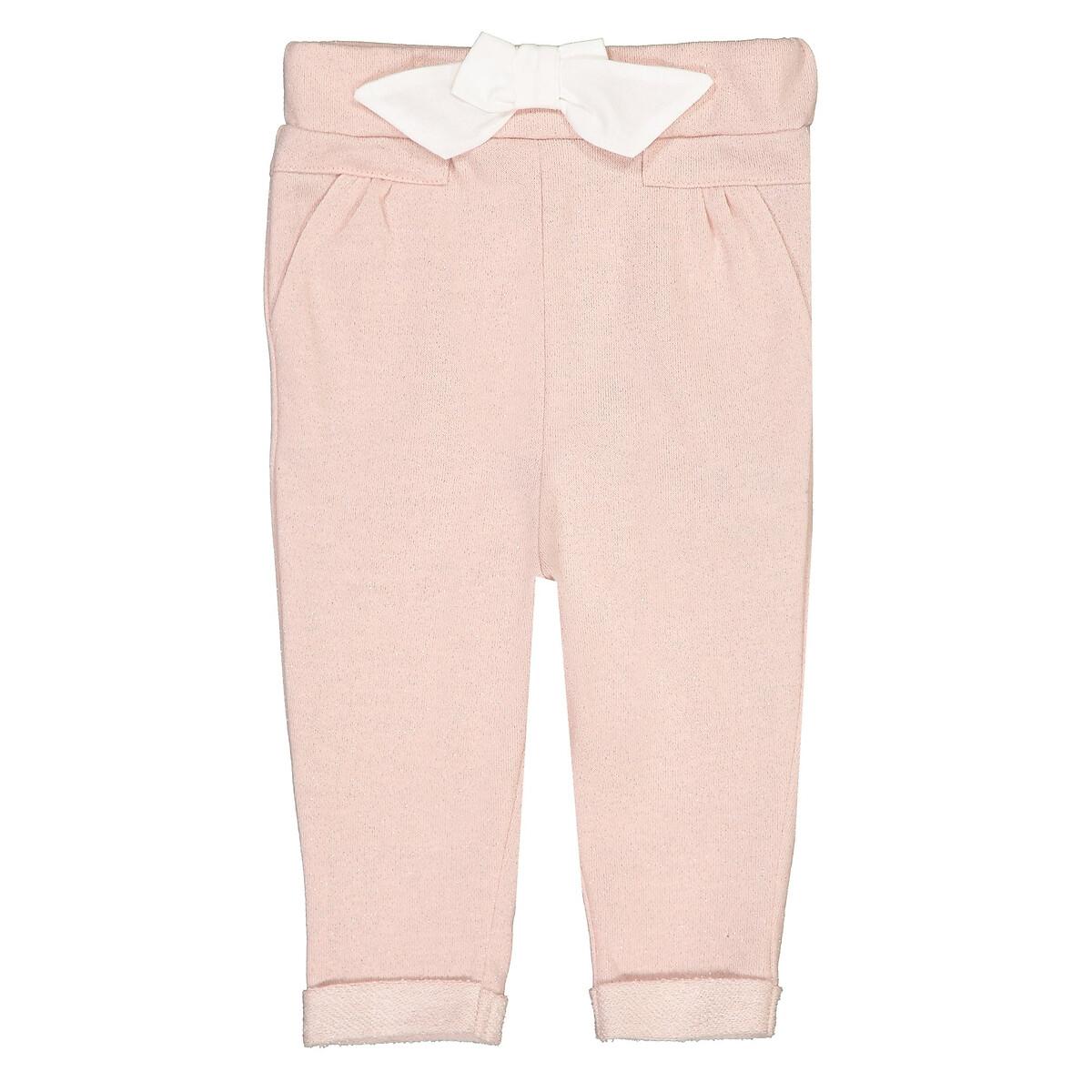 Фото - Брюки LaRedoute Из мольтона с бантом 1 мес - 3 года 6 мес. - 67 см розовый брюки laredoute из мольтона с бантом 1 мес 3 года 9 мес 71 см розовый