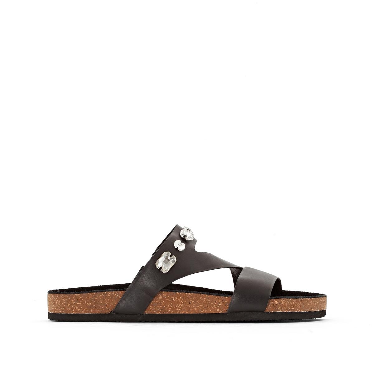 Туфли без задника кожаные