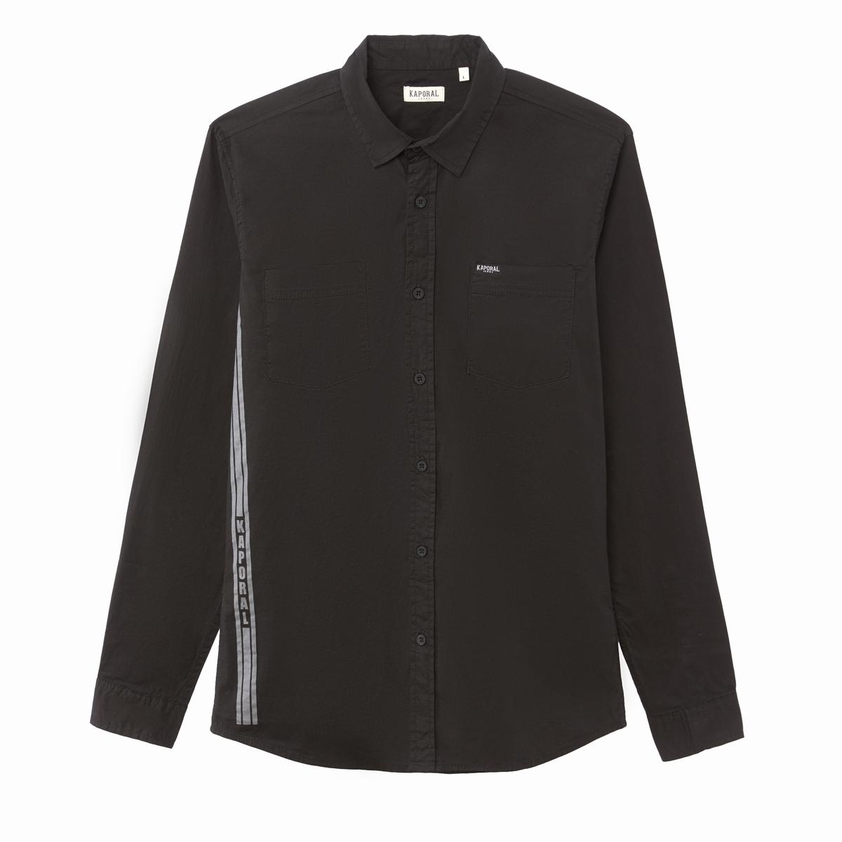 Рубашка La Redoute Приталенного покроя с длинными рукавами MALCO S черный циркуль malco 24