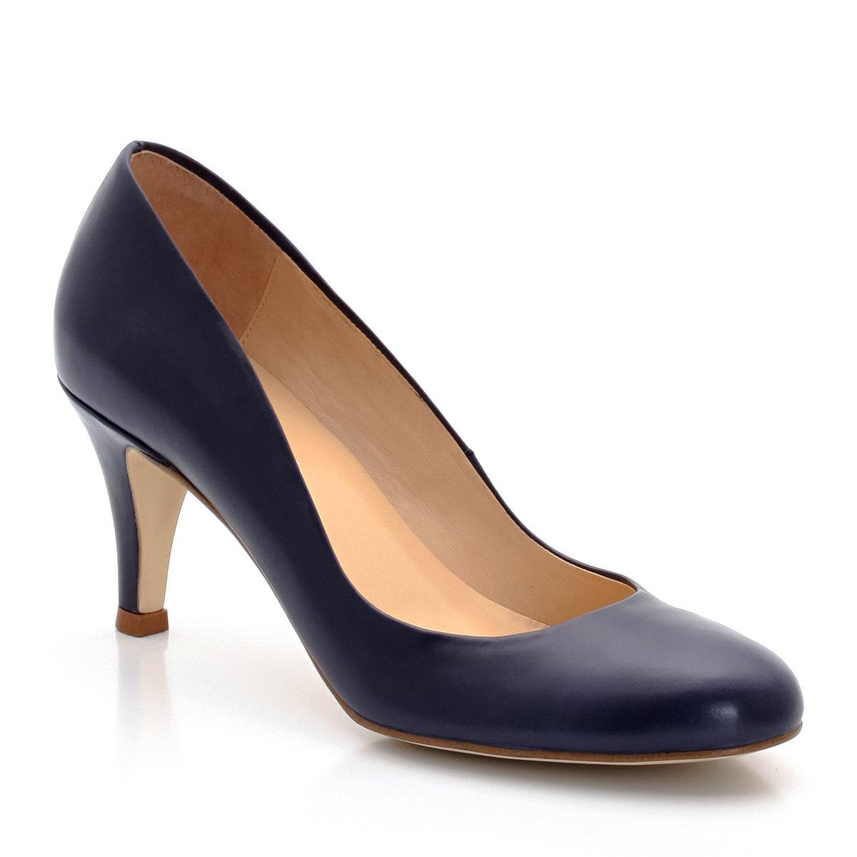 Туфли на каблукеБренд: JONAK. Верх: коровья кожа. Подкладка: кожа. Стелька: кожа. Подошва: эластомер. Высота каблука: 6 см<br><br>Цвет: каштаново-серый,темно-синий<br>Размер: 37
