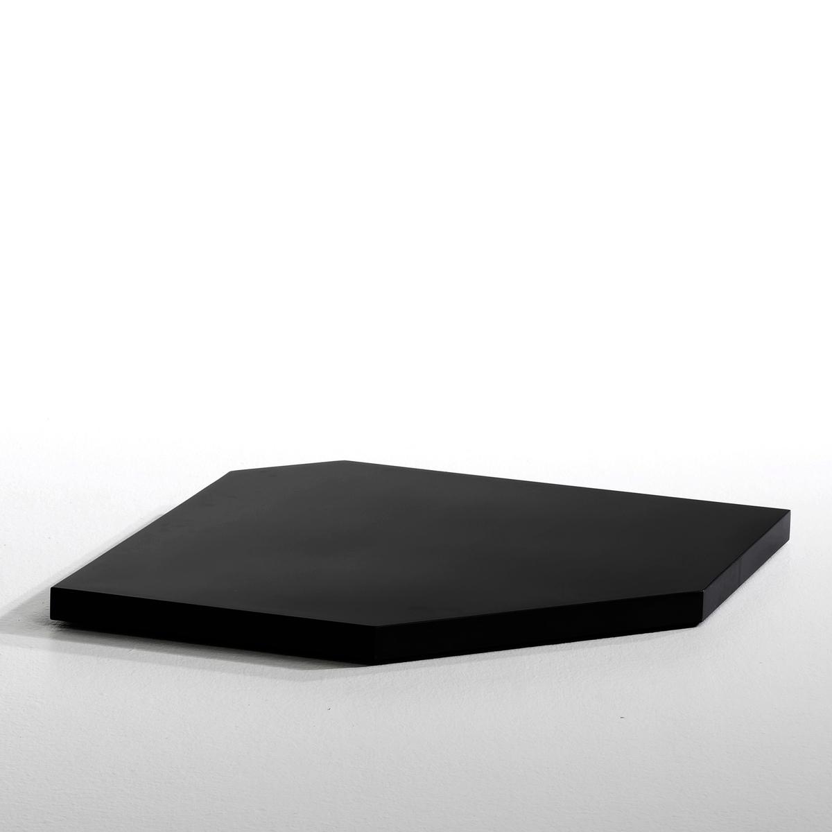 Угловая полка Kyriel для гардеробнойХарактеристики :- Из МДФ с покрытием ПУ лаком или отделкой под орех- Крепится к опоре благодаря кронштейнам угловой этажерки.Размеры :- 63 x 3,5 x 63 см Размеры и вес упаковки :- 73,6 x 10 x 71 см, 5,21 кг<br><br>Цвет: черный