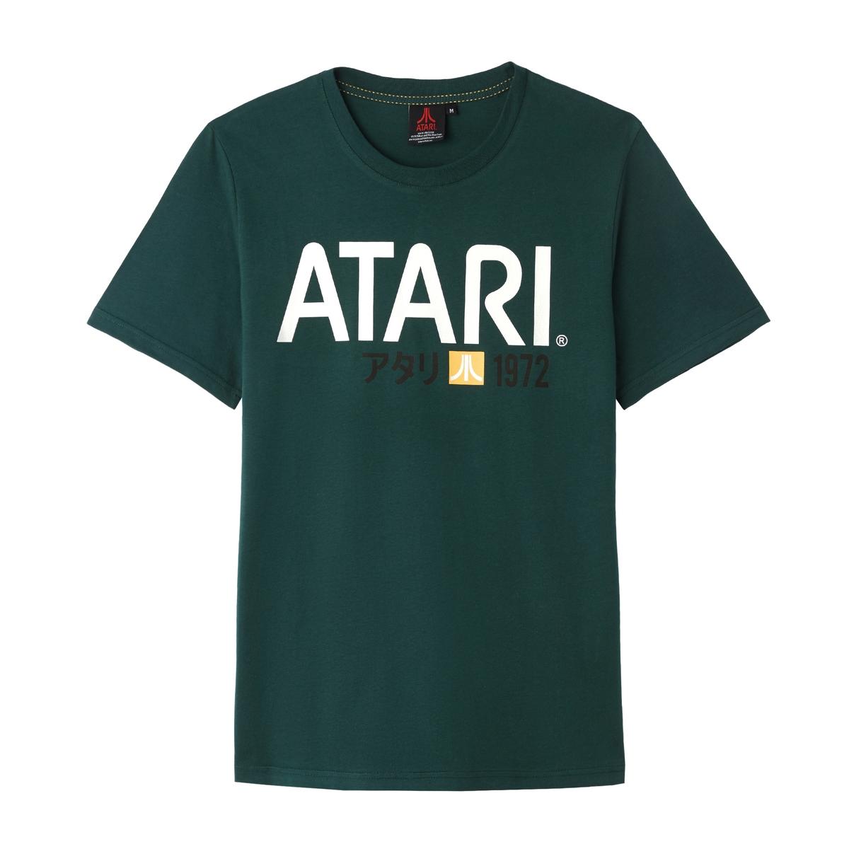 Футболка La Redoute С круглым вырезом и короткими рукавами Atari XXL зеленый свитшот la redoute с круглым вырезом и вышивкой s черный